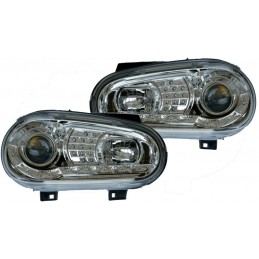 Chrome front lights to leds for Golf 4
