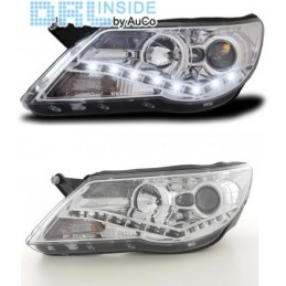 Front headlights with daytime led to VW Tiguan light