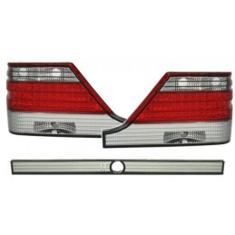 Taillights led for Mercedes class S W140 red white