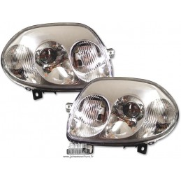 Pair of front headlights Renault Clio 2