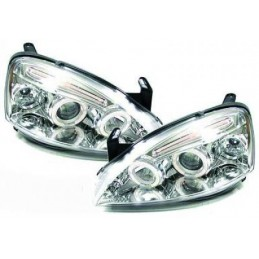 Front headlights chrome tuning for Opel Corsa C