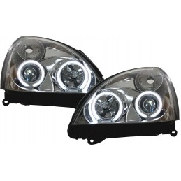 Headlights Angel eyes CCFL Renault Clio 2 fronts