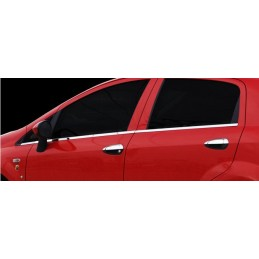 Outline of window chrome aluminum 6 Pcs stainless steel large PUNTO FIAT