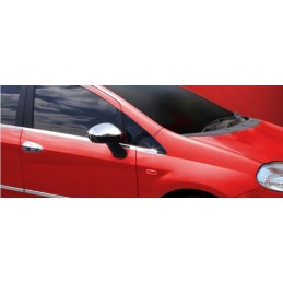 Outline of window chrome aluminum 2 Pcs stainless steel large PUNTO FIAT