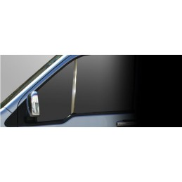 Outline of window chrome 2 Pcs stainless steel (Quarter) FORD CONNECT