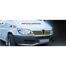 Wand of grille chrome alu 4 Pcs stainless steel (wide) MERCEDES VITO W639