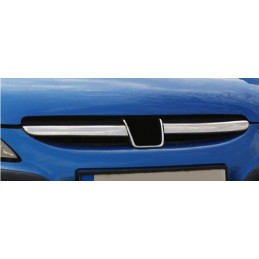 Wand of grille chrome aluminum 2 Pcs stainless PEUGEOT 307