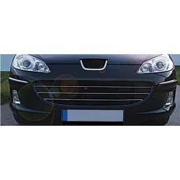 Wand of grille chrome alu 3 Pcs stainless PEUGEOT 407