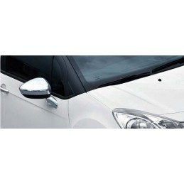 Shell mirrors chrome aluminum 2 Pcs stainless steel (with flashing hole) PEUGEOT 508