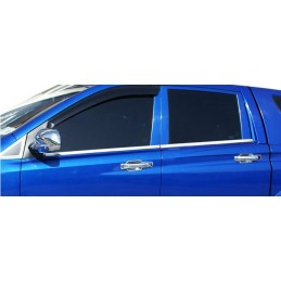 Outline of window chrome alu 4 Pcs stainless SSANGYONG ACTYON SPORTS