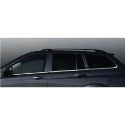 Outline of window chrome aluminum 6 Pcs stainless SSANGYONG KYRON
