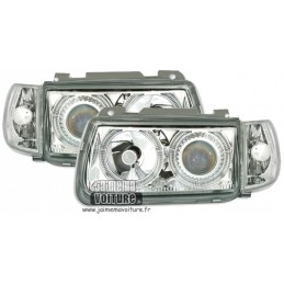 Front headlights angel eyes VW Polo