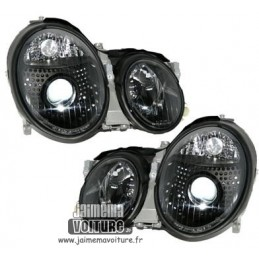 Headlights for Mercedes CLK black xenon fronts