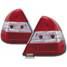 Taillights led Mercedes class C W202 red white
