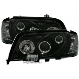 The class Mercedes C W202 color black front headlights