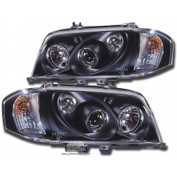 Pair of front headlights Sonar the class Mercedes C W202 black