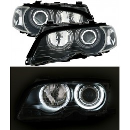 Front headlights angel eyes BMW series 3 E46 cut cabriolet