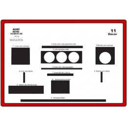 Trims dashboard for AUDI 80...