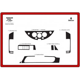 Trims dashboard for NISSAN...