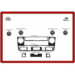 Trims dashboard for OPEL...