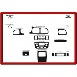 Insert dashboard PEUGEOT 406 1999 - 2005 13 pieces