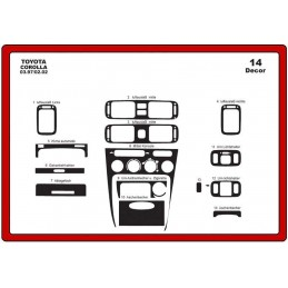 Trims dashboard for TOYOTA...