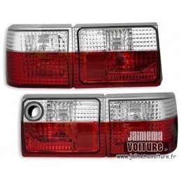Audi 80 Crystal Red White rear lights
