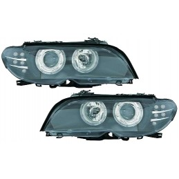 Angel eyes before BMW E46 series 3 cup convertible - black XENON