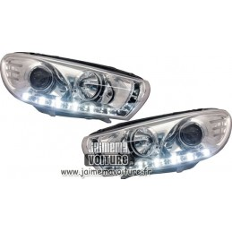 Front leds Scirocco Chrome headlights