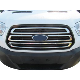 Added chrome alu for Ford Transit grille