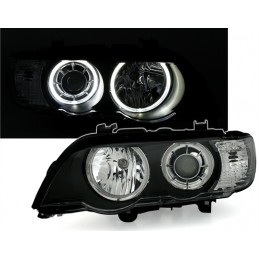 Front headlights Angel Eyes for BMW X 5 E53 2000 to 2003 - Xenon