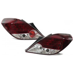 Opel Corsa D red white tuning led taillights
