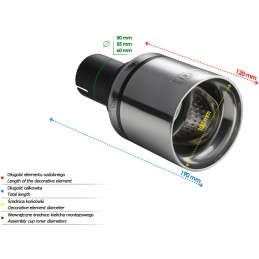 Cannula round exhaust tip