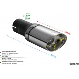 Sports oval exhaust tip