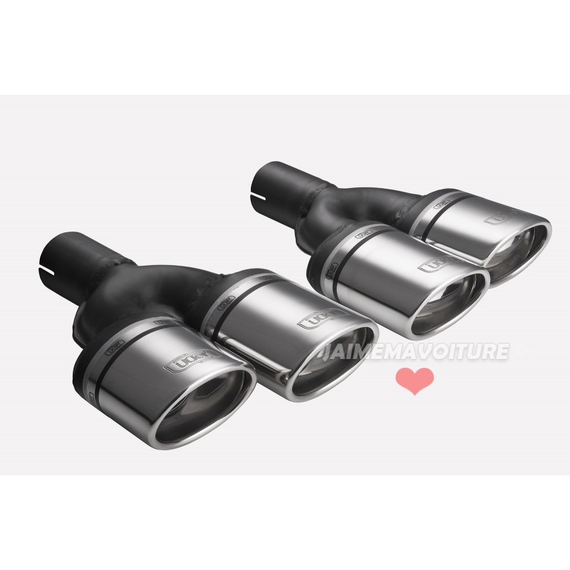 Tip dual exhaust left and right oval chrome