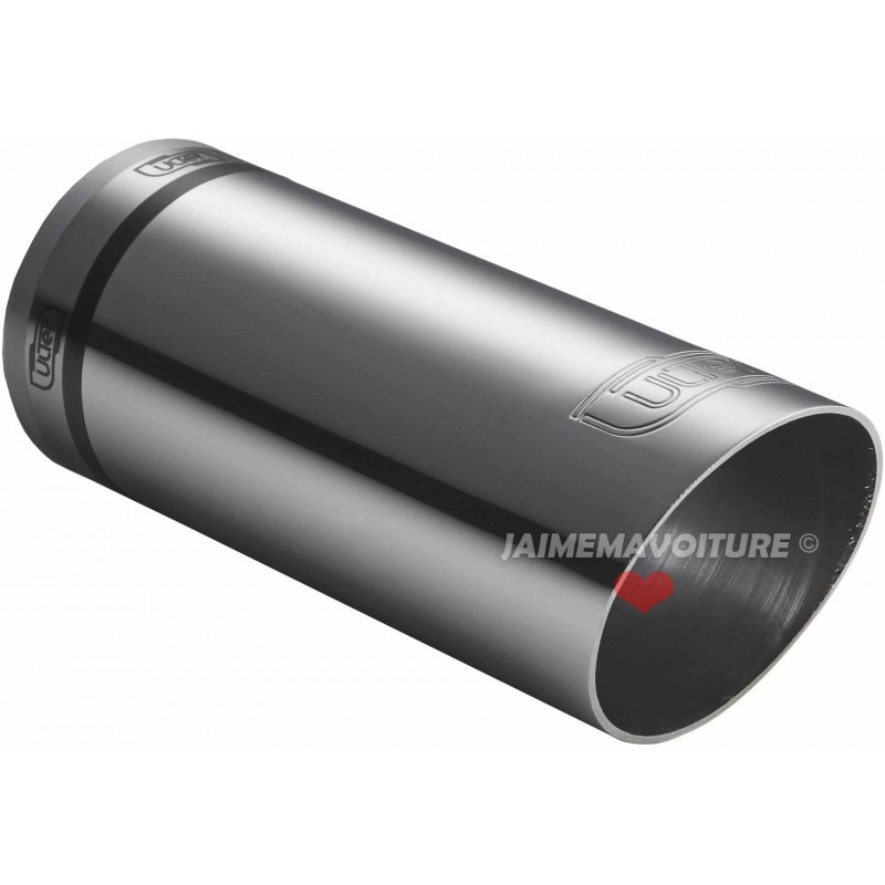 Exit exhaust chrome round 60 mm