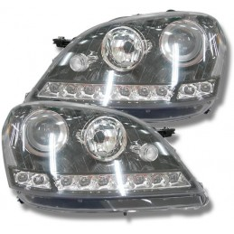 Luces leds frontales Mercedes ML W164 negro