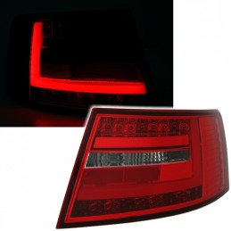 Taillights tube led red white Audi A6 6 pines