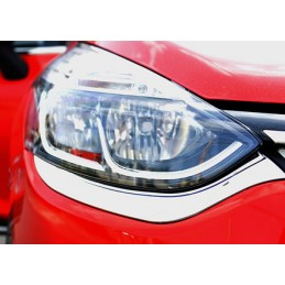 Chrome front headlight Renault CLIO 4 wands