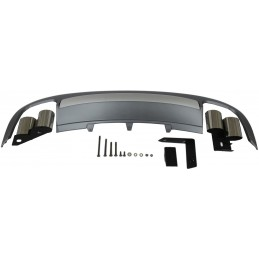 Kit diffuser spoiler and AUDI S5 2008-2012 exhaust tips