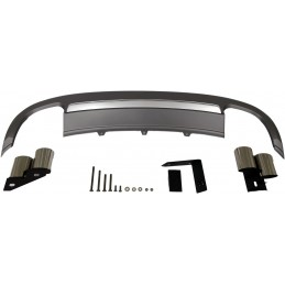 Kit diffuser spoiler and AUDI S5 2012-2016 exhaust tips
