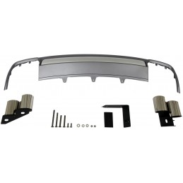 Kit diffuser spoiler and AUDI S4 B9 2013-2015 exhaust tips
