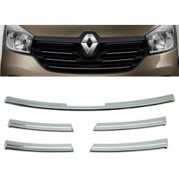 Aluminum chrome plated for grille Renault Trafic III