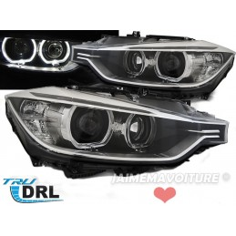 Headlights front angel eyes LED for BMW 3 Series F30 F31