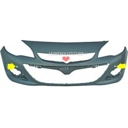 Front bumper for Opel Astra J 2 holes PDC