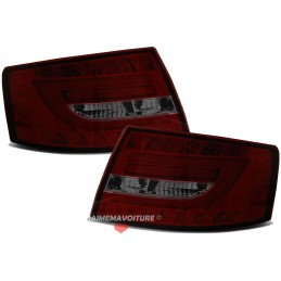 Tail lights led tube for Audi A6 red smoked 7 pins