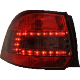 Red LED Rear Lights for Golf 5 6 Break - Smoked Red