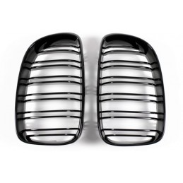 Black grille brilliant for BMW series 1 2004-2007 look M