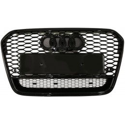 Black grille for Audi A6 2011-2014 look RS6 Quattro