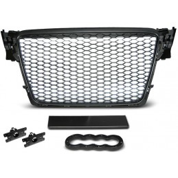 Black grille for Audi A4 B8 look RS4 bee nest